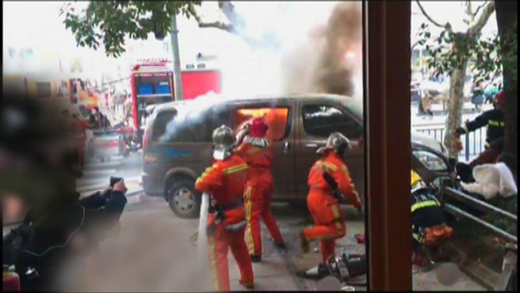 上海人民公園附近有貨車剷上行人路18傷