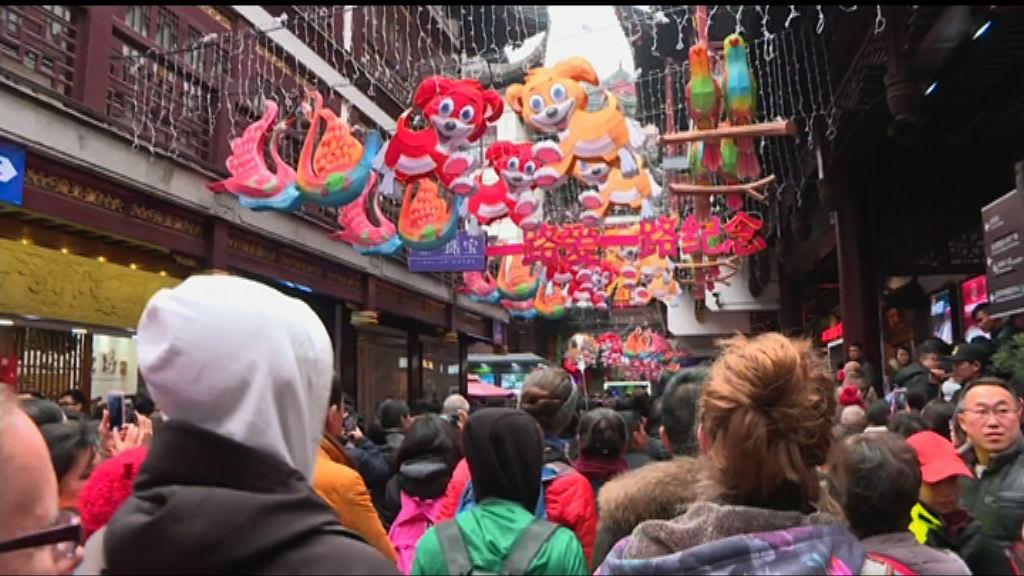 上海豫園農曆年人流破紀錄