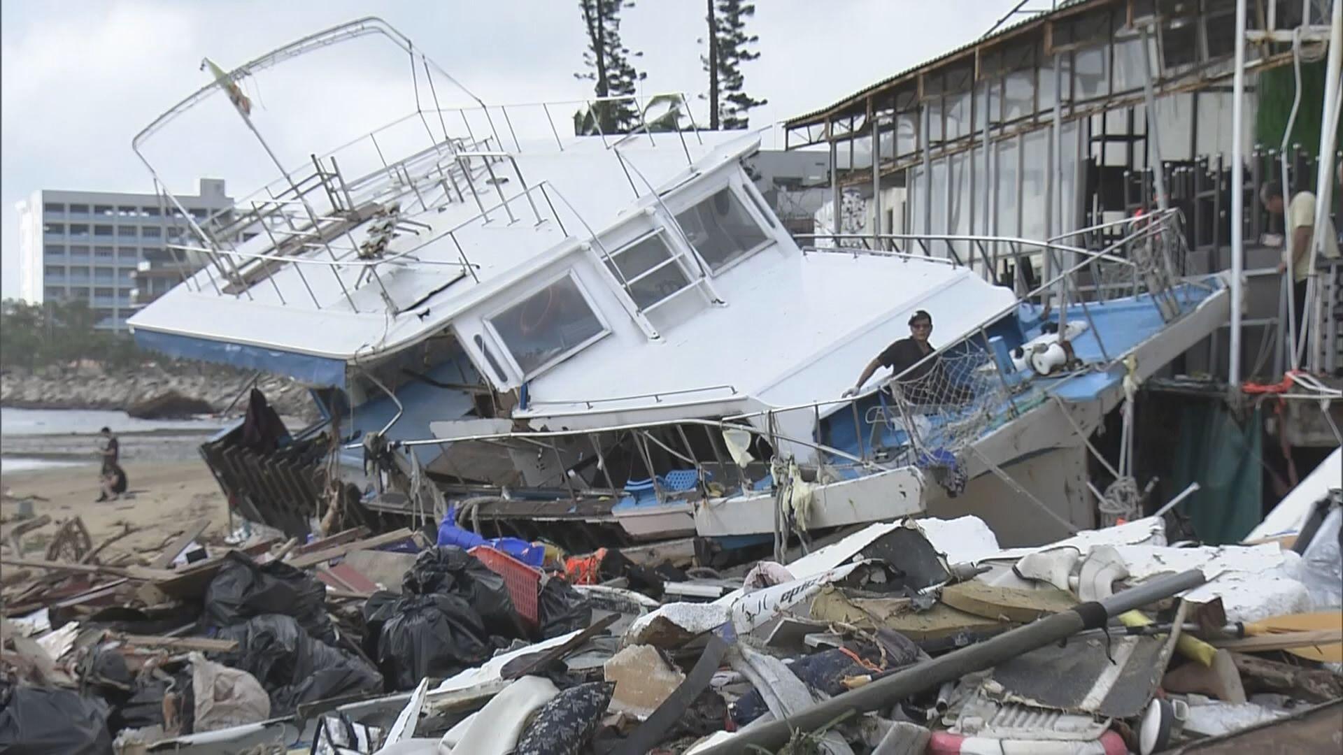 西貢多艘遊艇擱淺 船主損失慘重