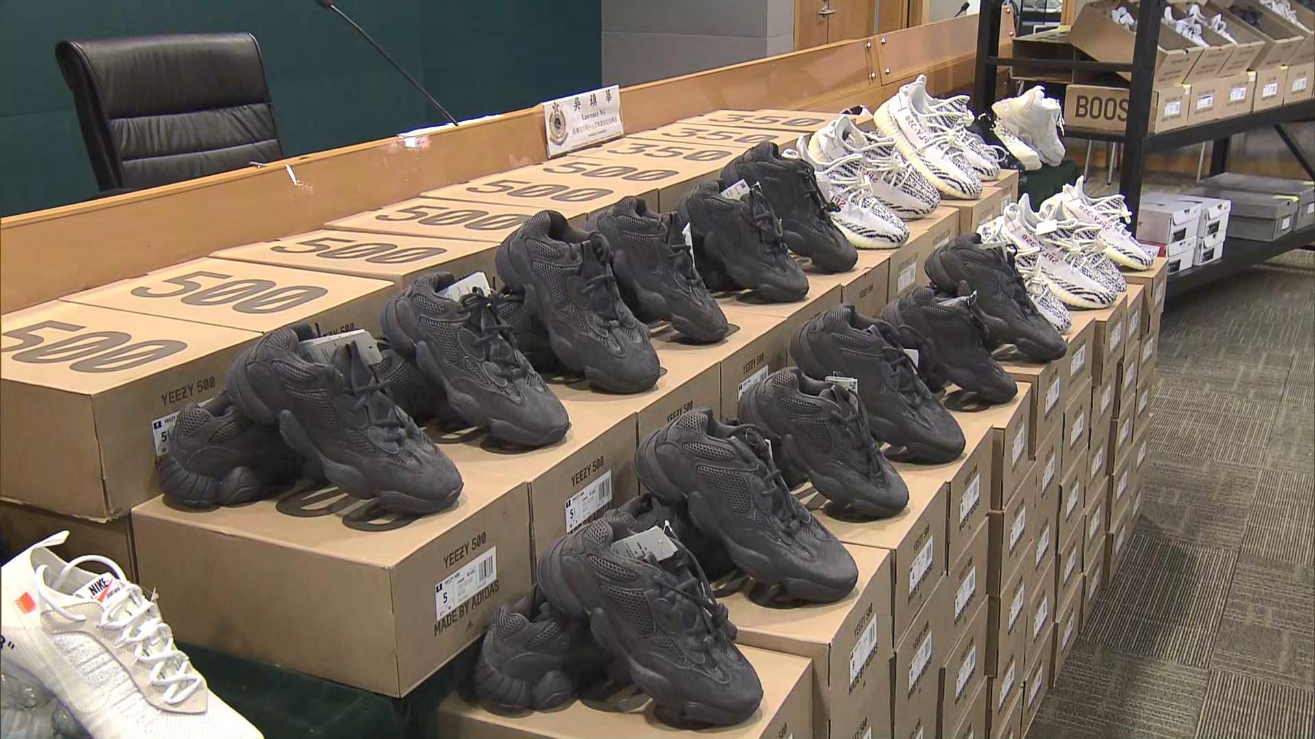 海關打擊網上出售冒牌波鞋拘一人