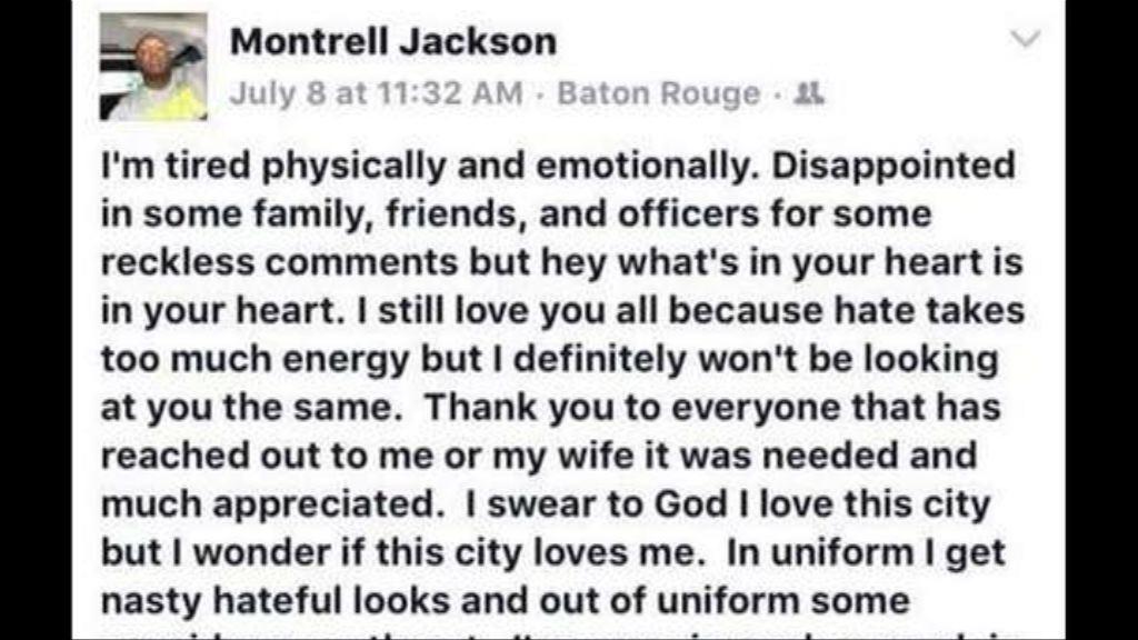 美殉職黑人警員生前感慨警民關係緊張