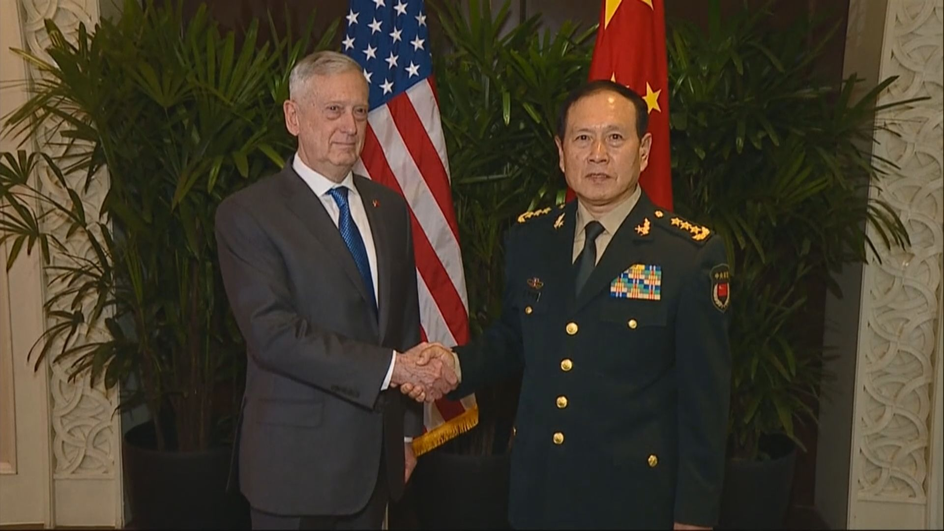 中美防長新加坡會面討論南海問題