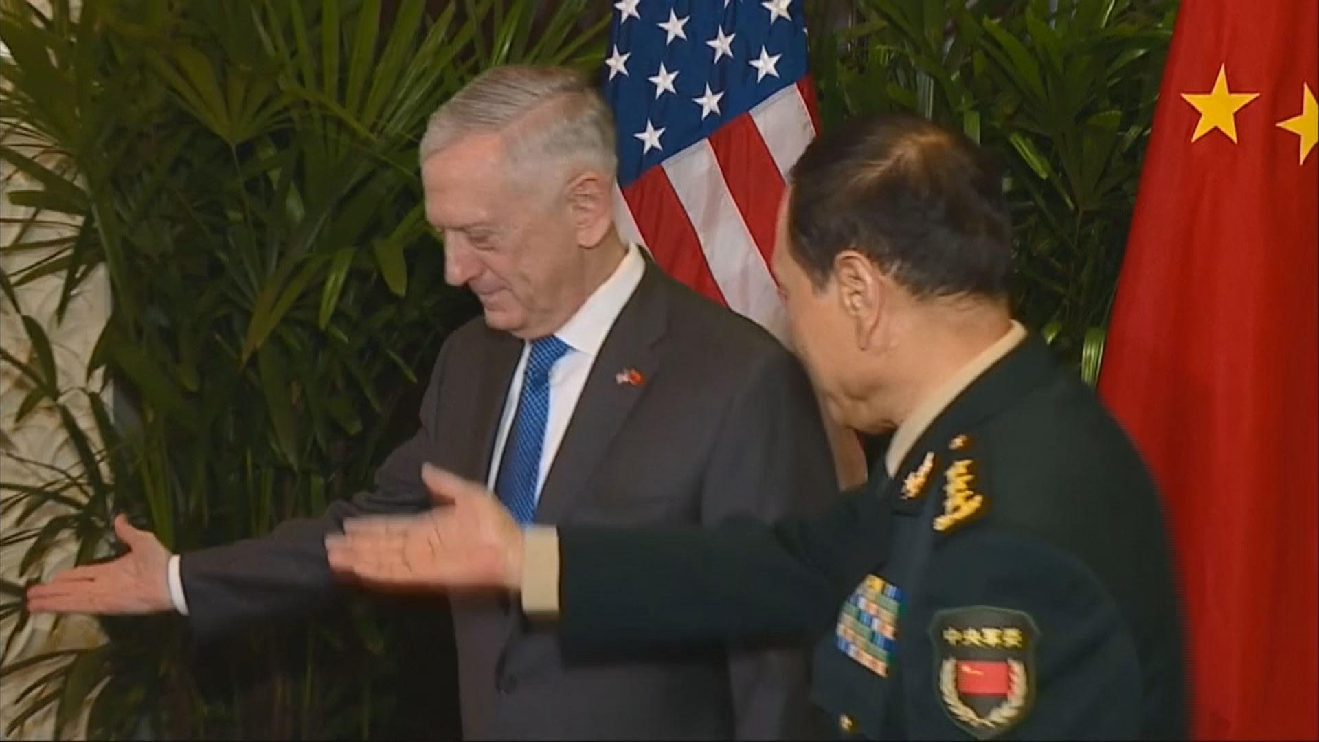 中美防長會面 雙方會後均無發聲明