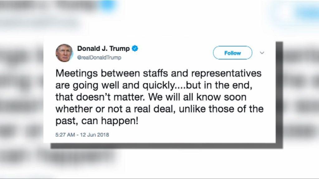 美朝峰會 特朗普:很快知道是否達成真實協議