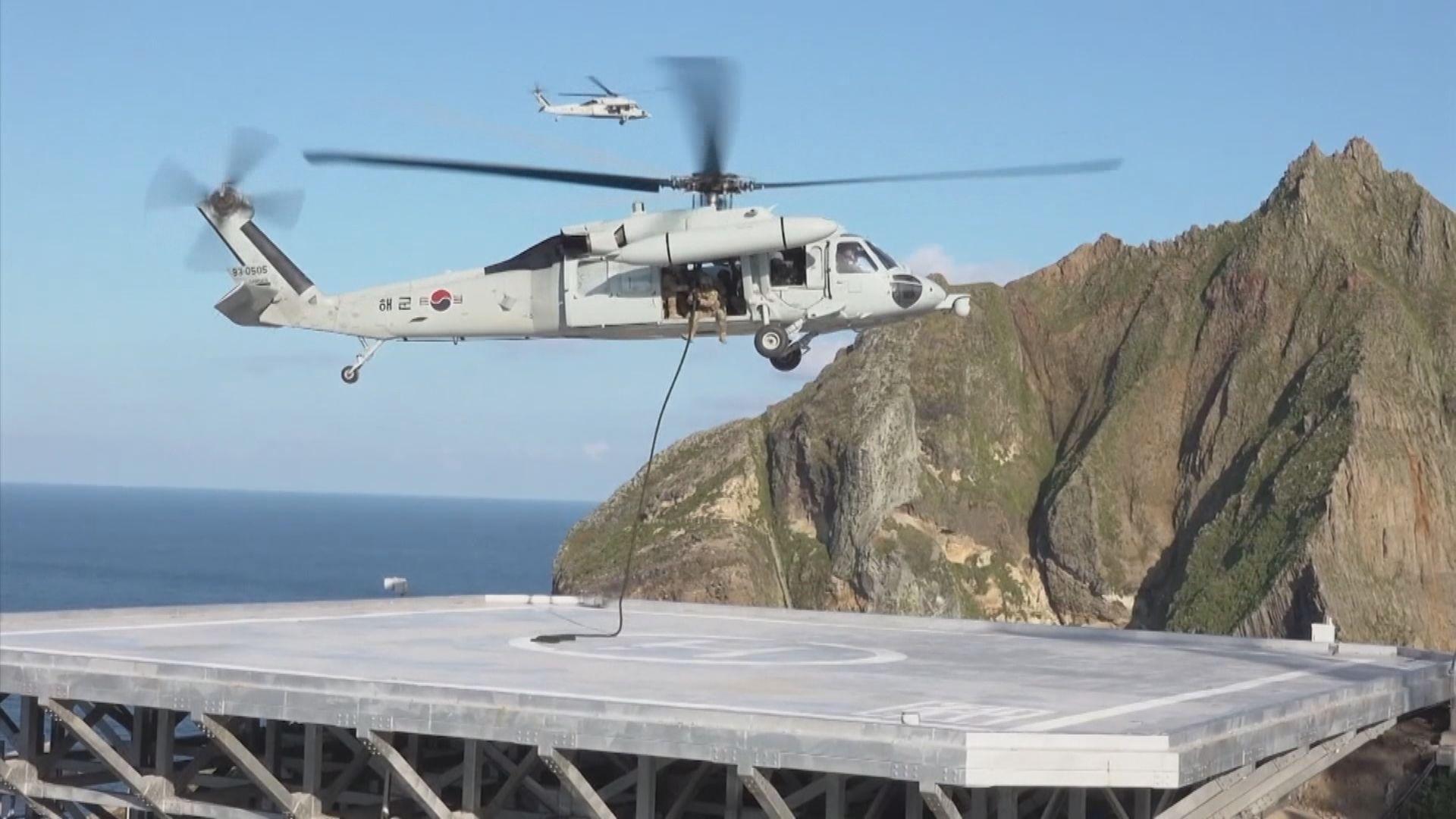 南韓於獨島進行防禦演習 規模比上次小