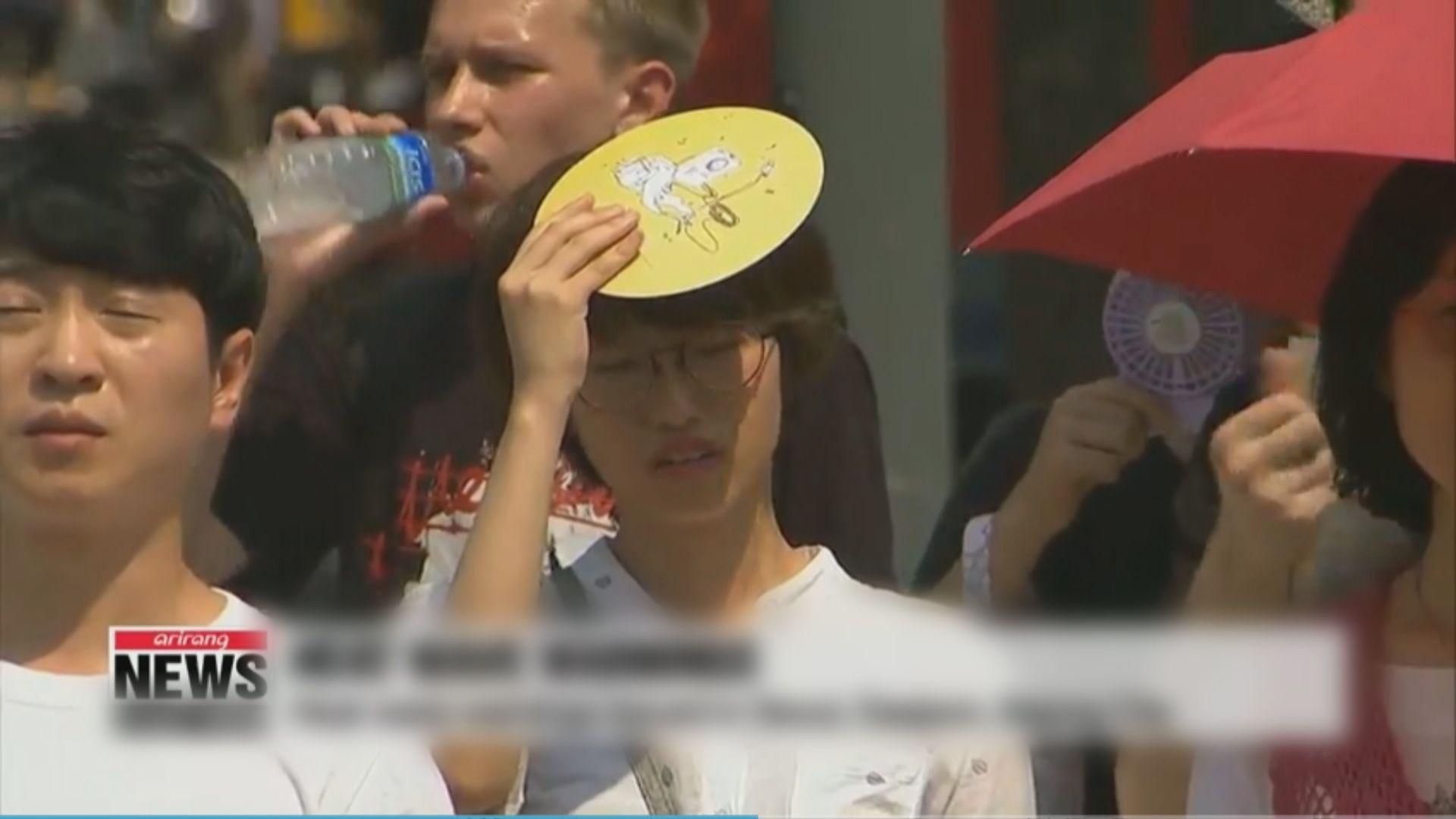 南韓多個城市發熱浪警告