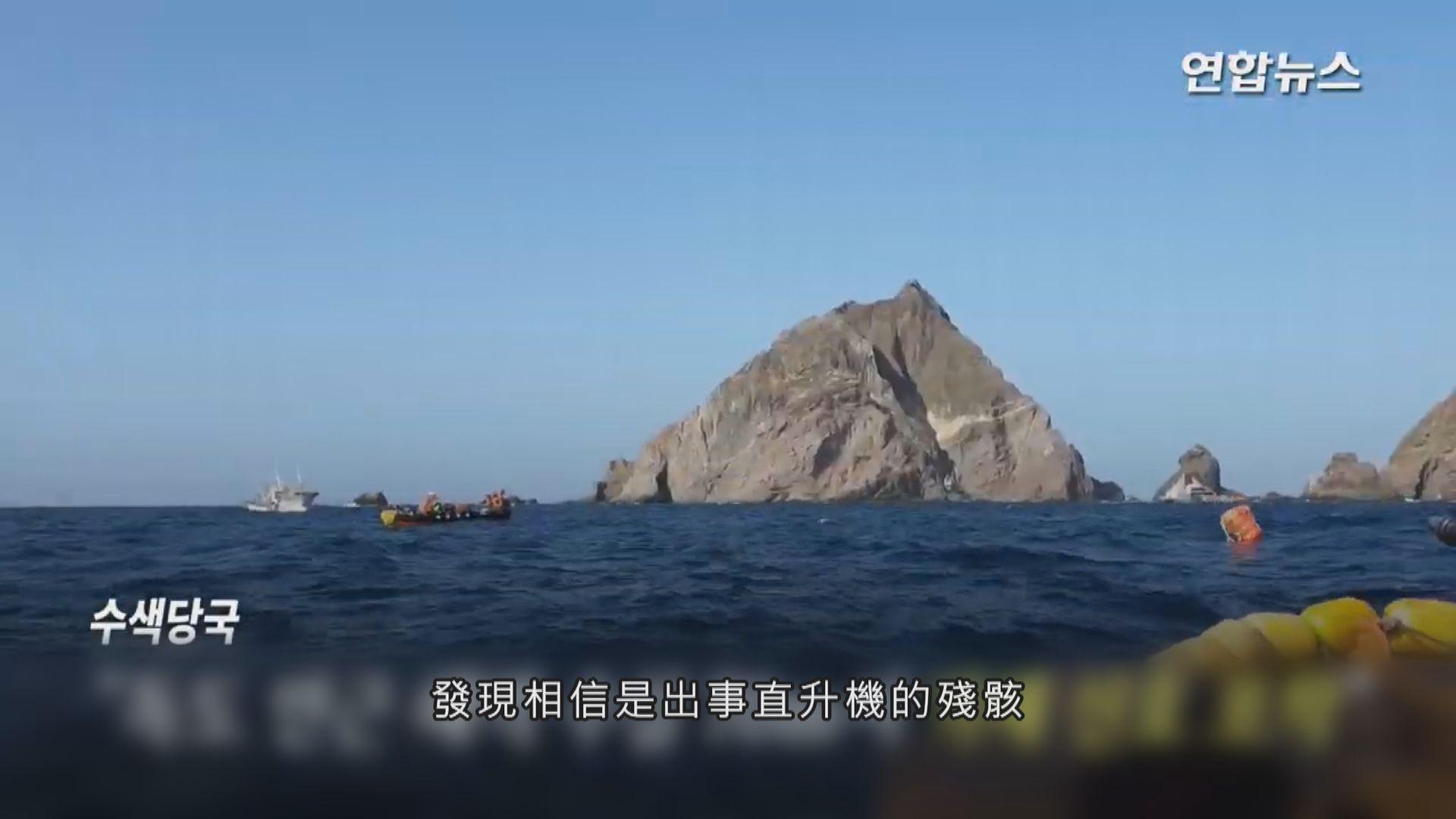 南韓救援直升機獨島附近墜海