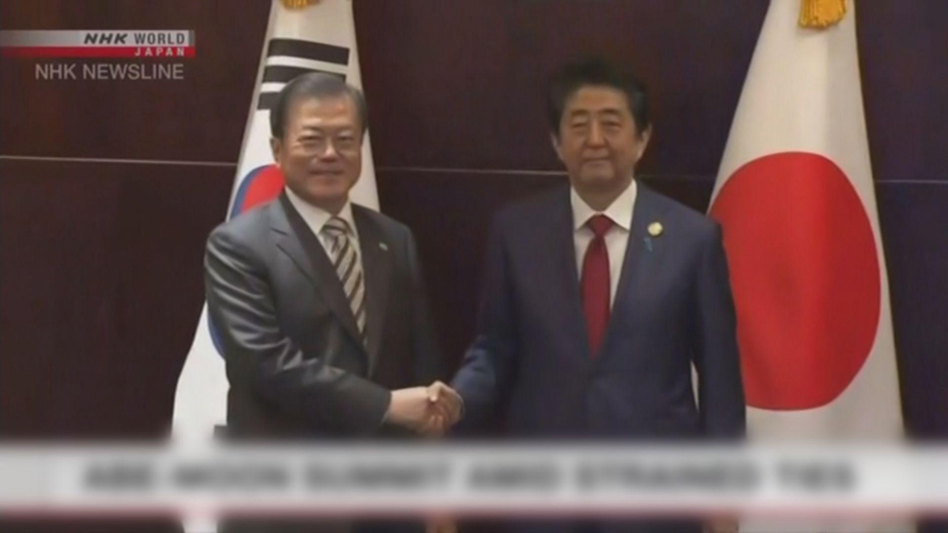 日韓首腦冀以外交對話解決強徵勞工案爭議