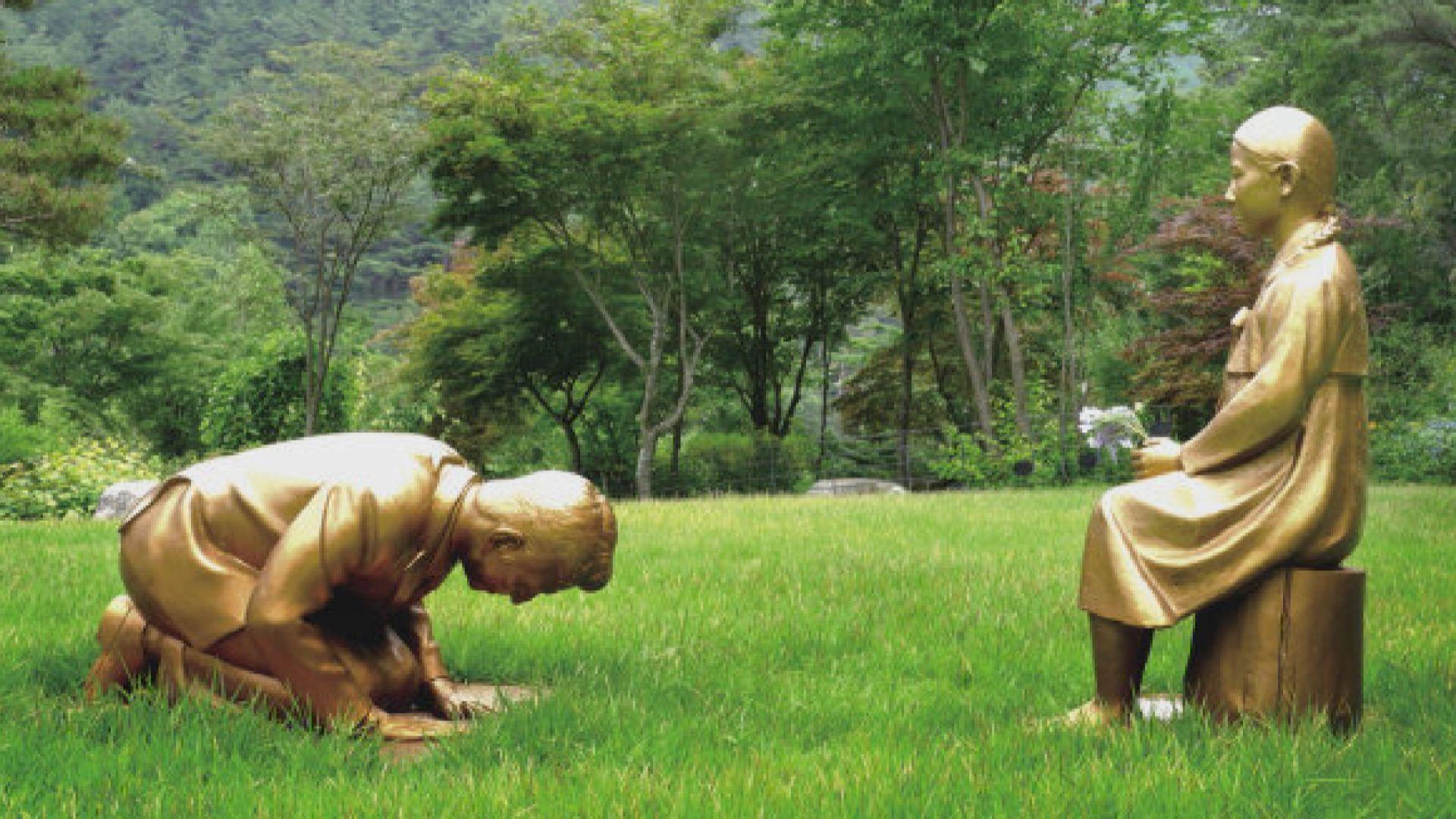 南韓雕像疑影射安倍晉三向慰安婦下跪 日方表示強烈不滿