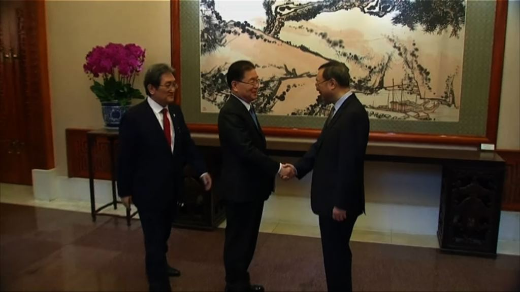南韓訪朝特使於北京晤楊潔篪介紹訪問成果