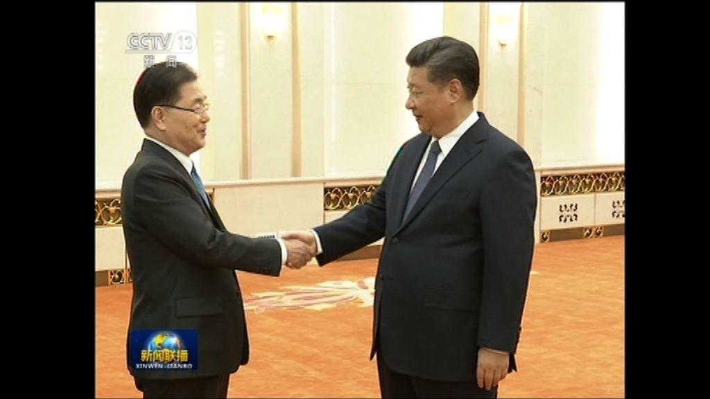 鄭義溶訪北京與習近平會面