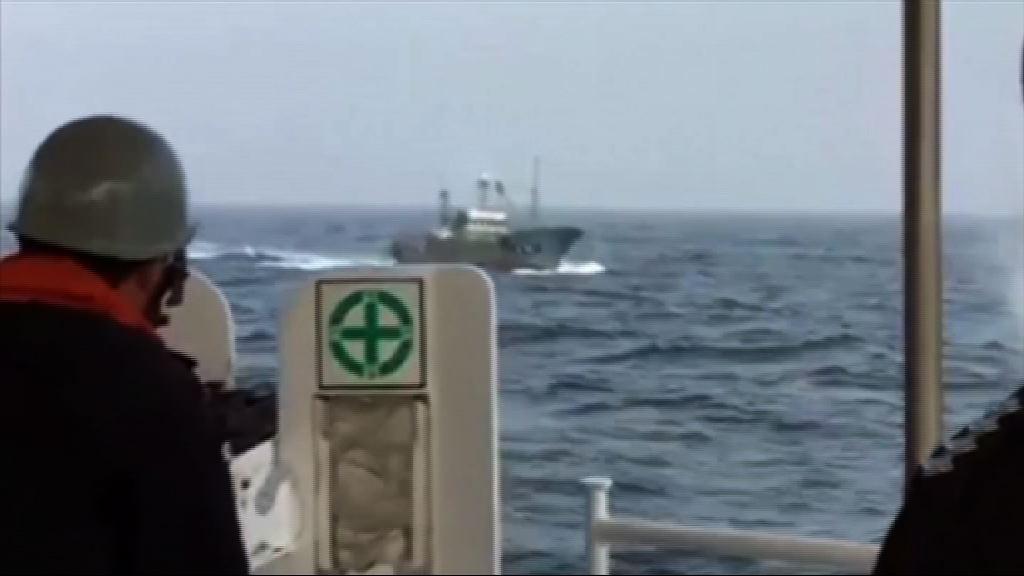 南韓海警機槍驅非法捕魚中國船
