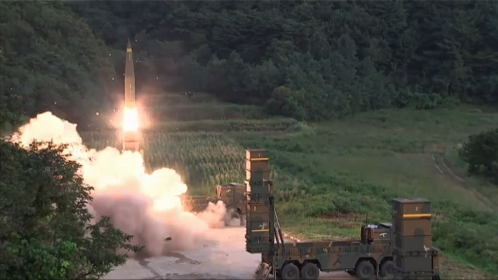 南韓兩軍聯合導彈演習回應北韓核試