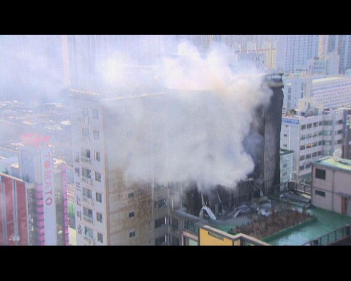 南韓住宅樓宇大火 警方不排除有人縱火