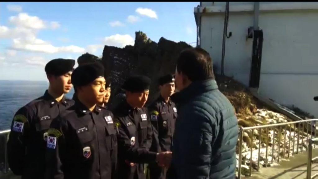 南韓官員登上獨島 日本提出抗議