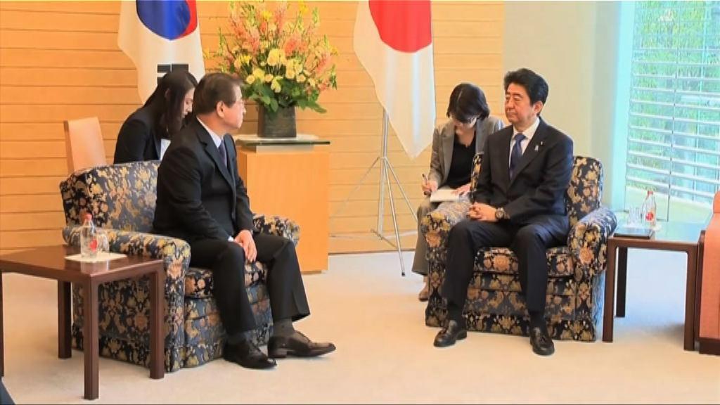 韓總統特使向日揆簡報出訪美朝成果