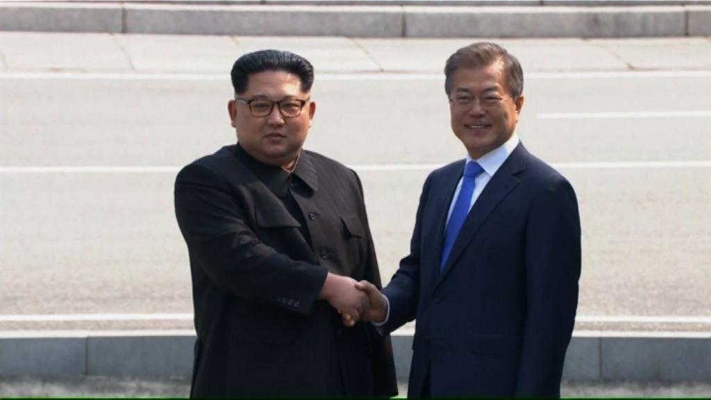 南北韓領導人互相踏足對方領土