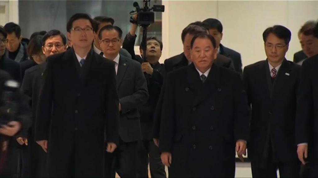 金英哲率領北韓代表團抵達南韓