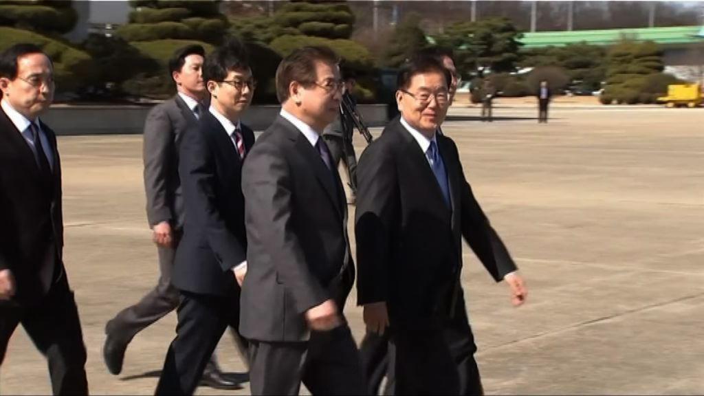 南韓特使團抵達平壤 金正恩首見南韓官員