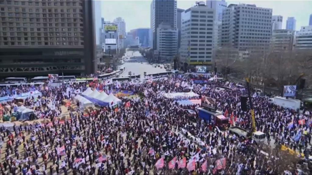 南韓有民眾集會要求釋放朴槿惠
