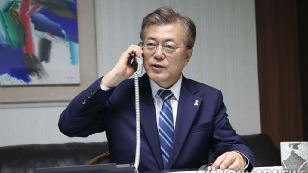 文在寅當選南韓總統後隨即展開職務
