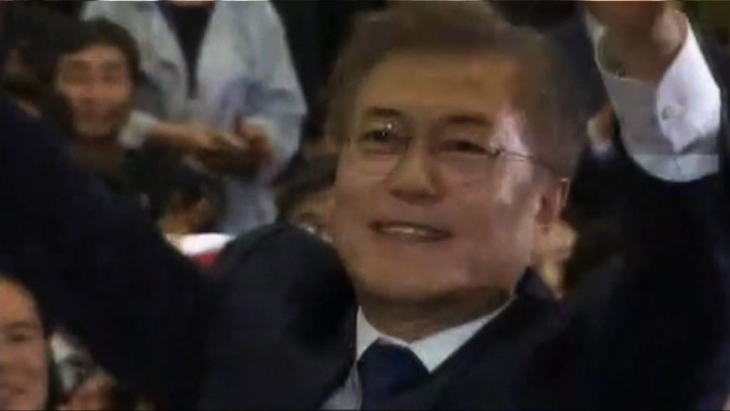 南韓大選 文在寅票站調查領先