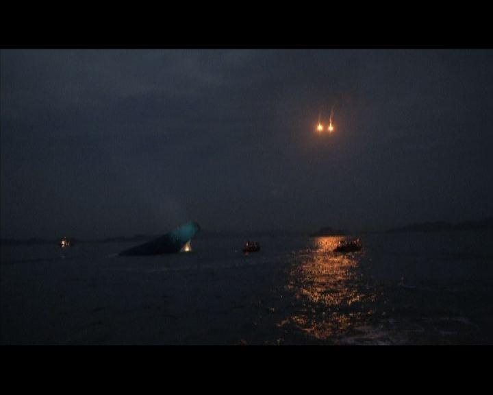 南韓客輪沉沒至少六死救援人員通宵搜救
