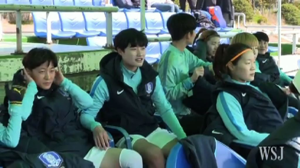南韓女足接受特訓適應平壤賽場