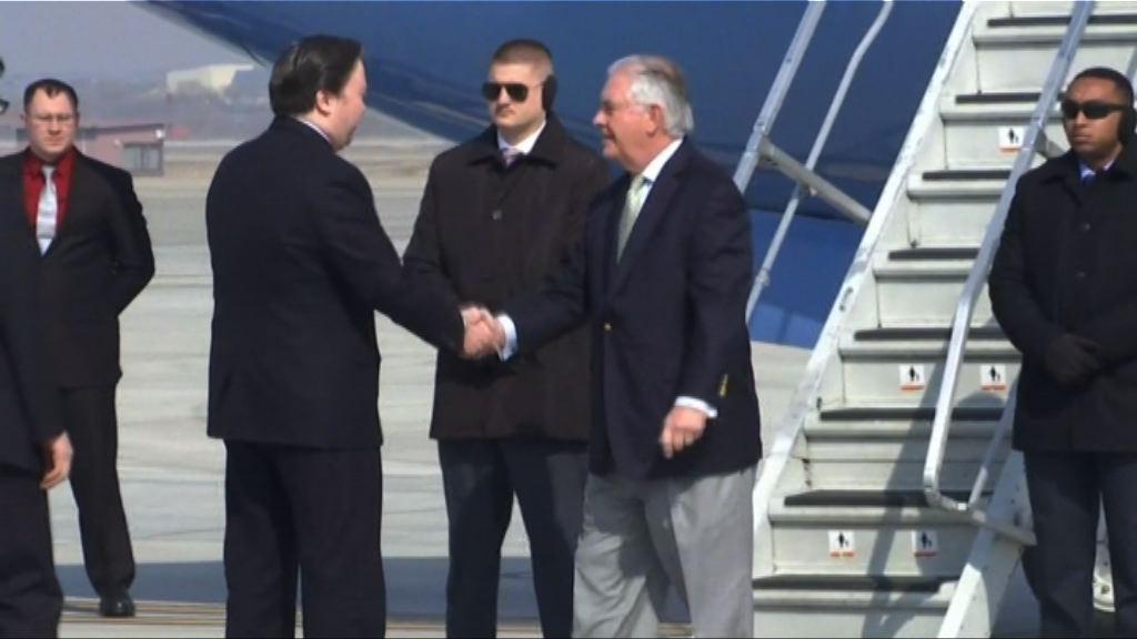 美國國務卿蒂勒森轉抵南韓訪問