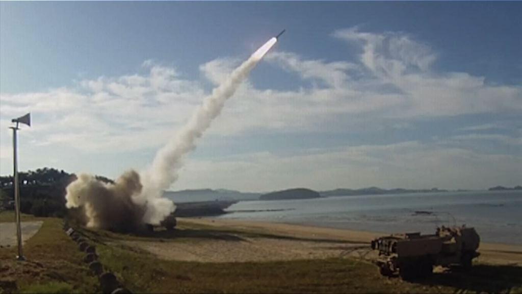 美軍駐韓軍團舉行實彈演習