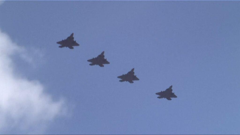美軍戰機飛越朝鮮半島上空抵南韓基地