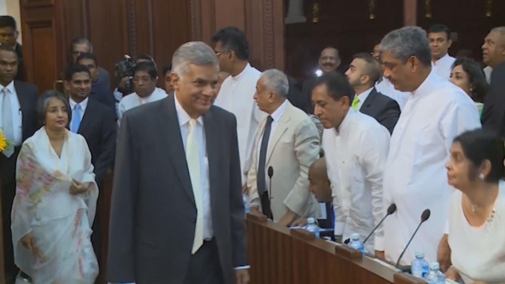 維克勒馬辛哈再次出任斯里蘭卡總理