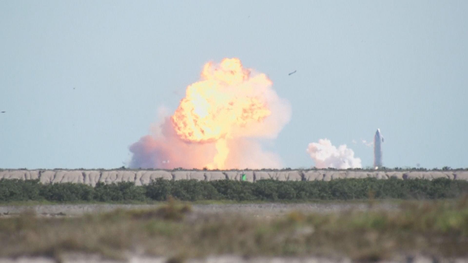 SpaceX星際飛船火箭試飛著陸兩個月二次降落失敗