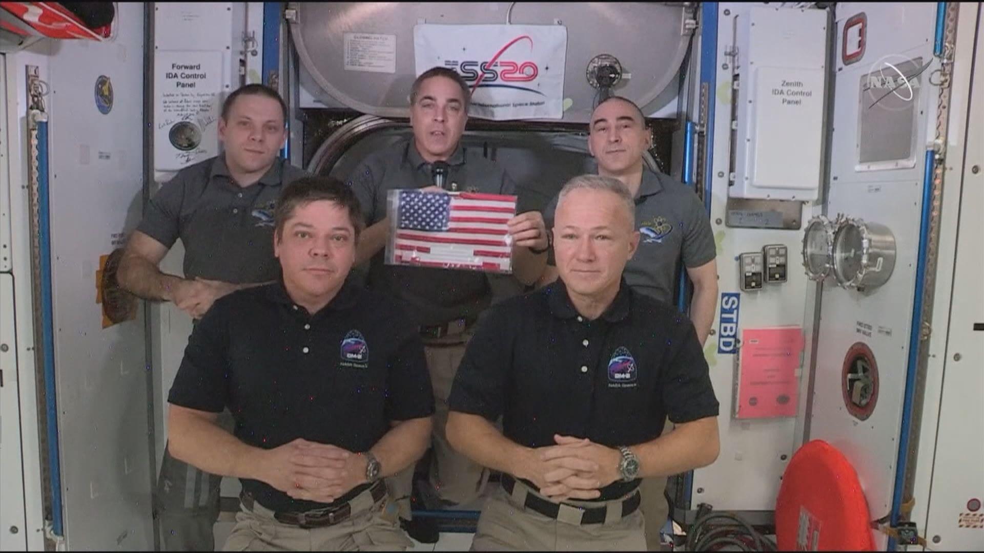 SpaceX龍飛船將送兩名太空人回地球