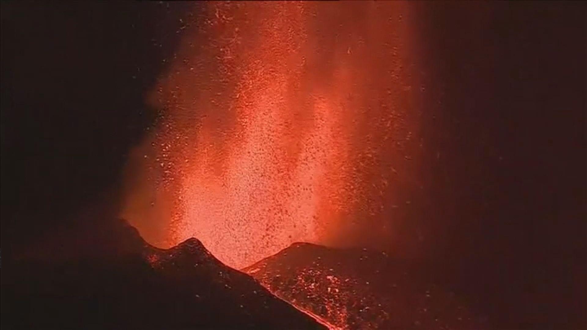 西班牙拉帕爾馬島火山爆發