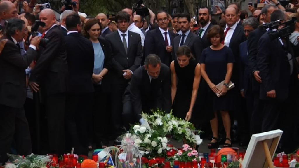 巴塞羅那悼念恐襲死難者