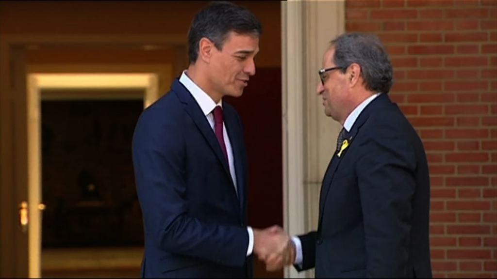西班牙首相與加泰主席同意就加泰未來對話