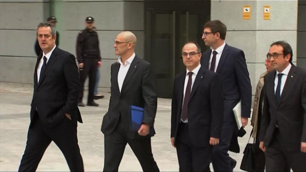 西班牙法院傳召前加泰官員接受問話