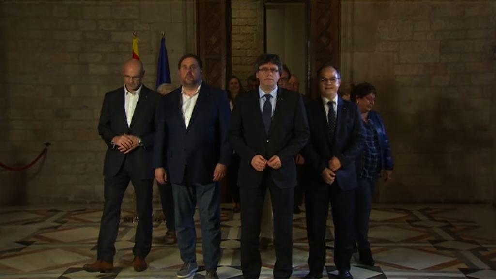 加泰羅尼亞公投通過脫離西班牙獨立