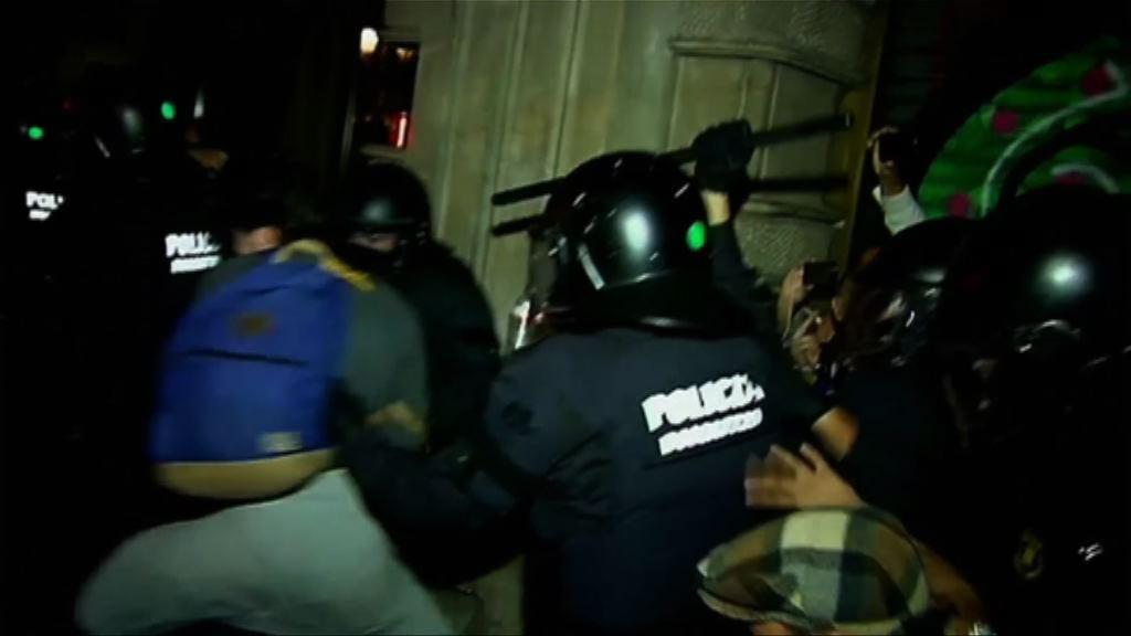 巴塞羅斯示威撐獨立公投釀衝突