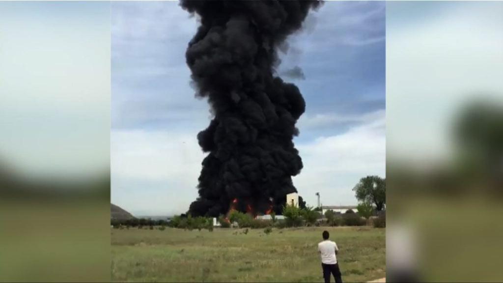 西班牙廢物處理廠大火引發爆炸 近三十人傷