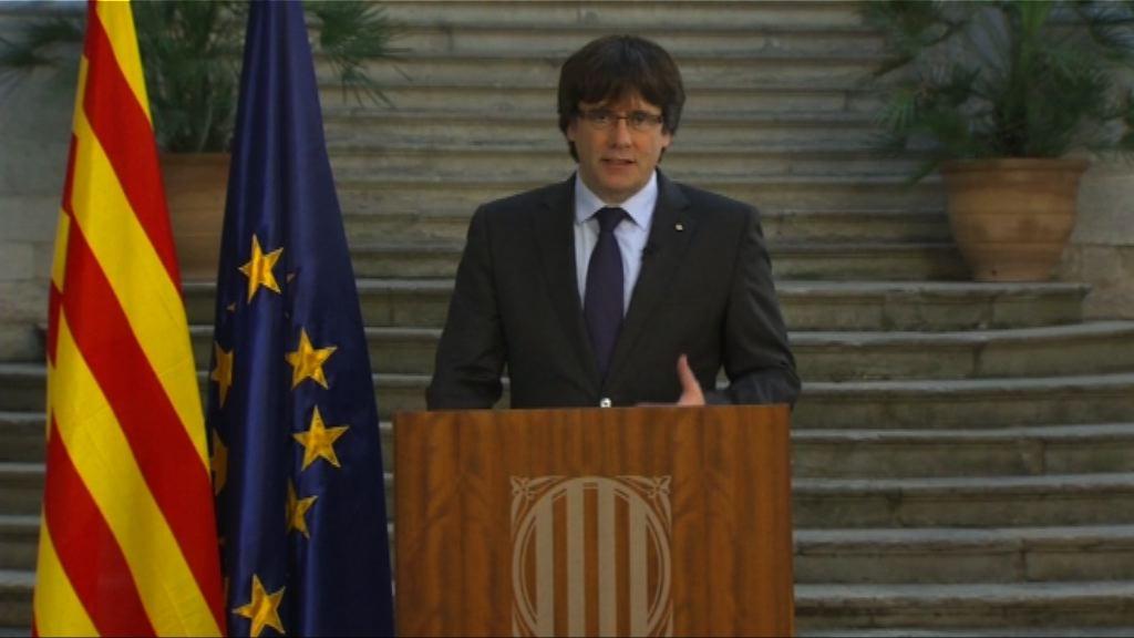 普伊格蒙特籲和平抗爭反對西班牙接管