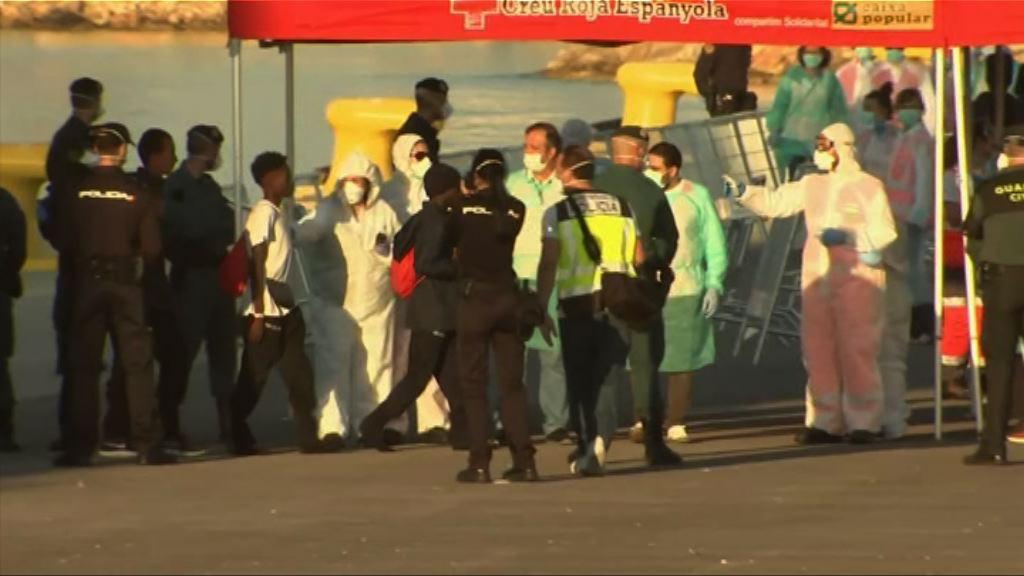 三艘載有難民船隻抵達西班牙