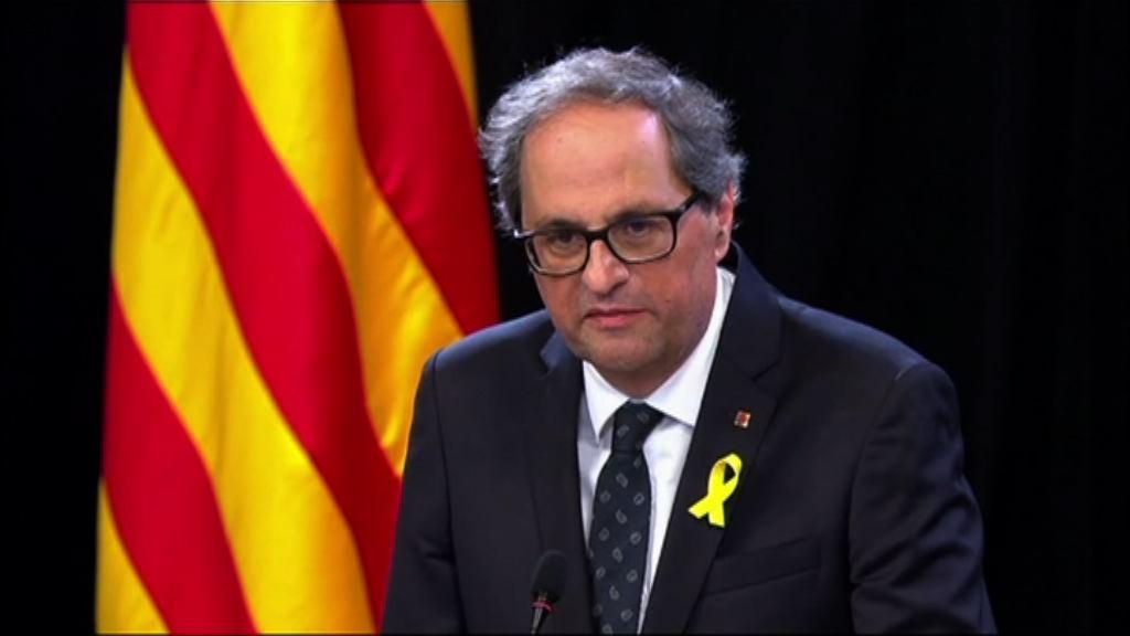 加泰政府宣誓就任籲馬德里政府對話