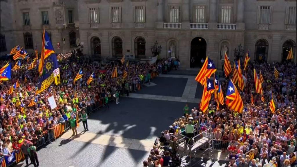 加泰羅尼亞抗議獨立公投遭打壓