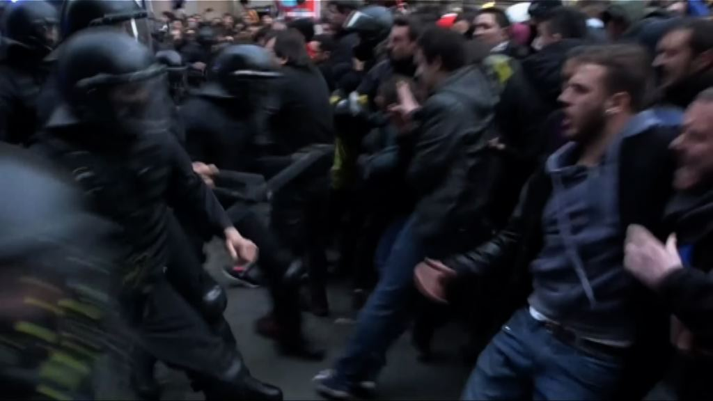 巴塞羅那續有支持加泰獨立示威