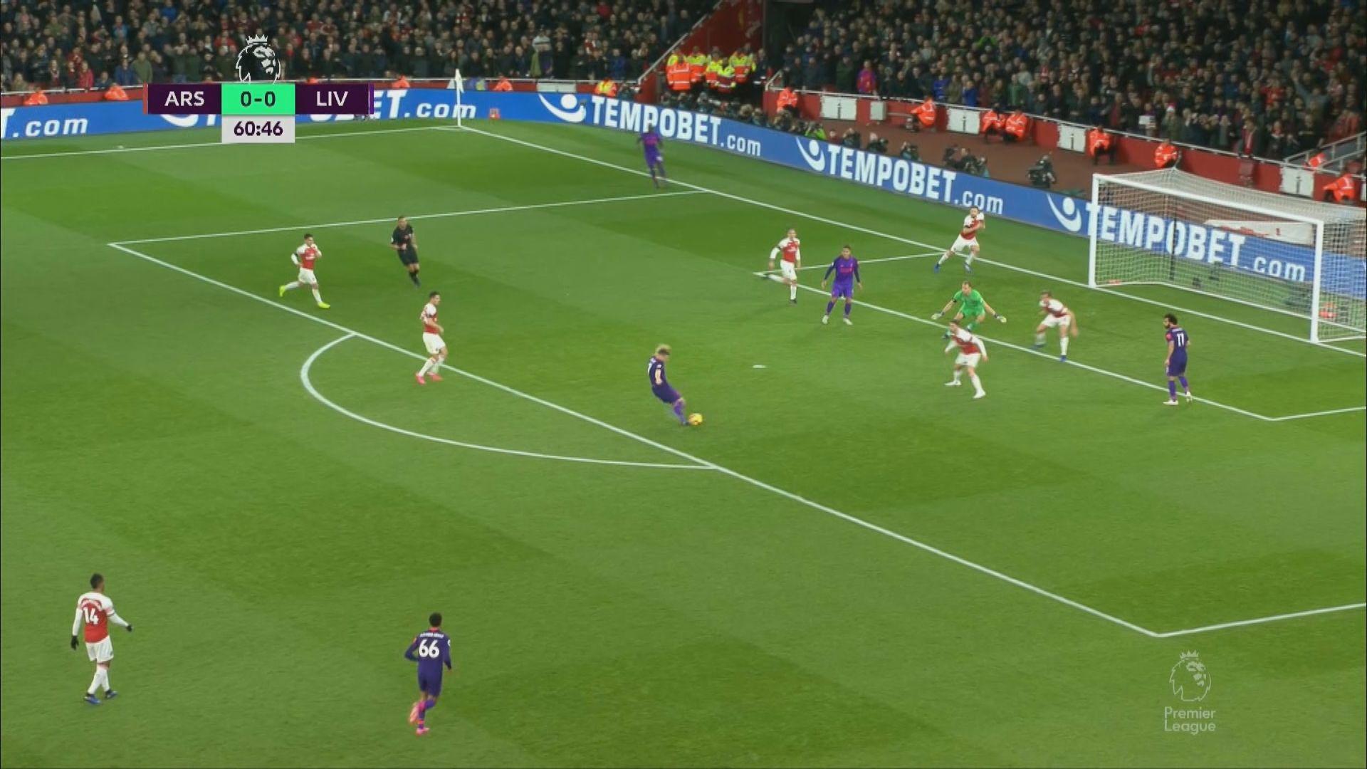 英超 阿仙奴 1:1 利物浦