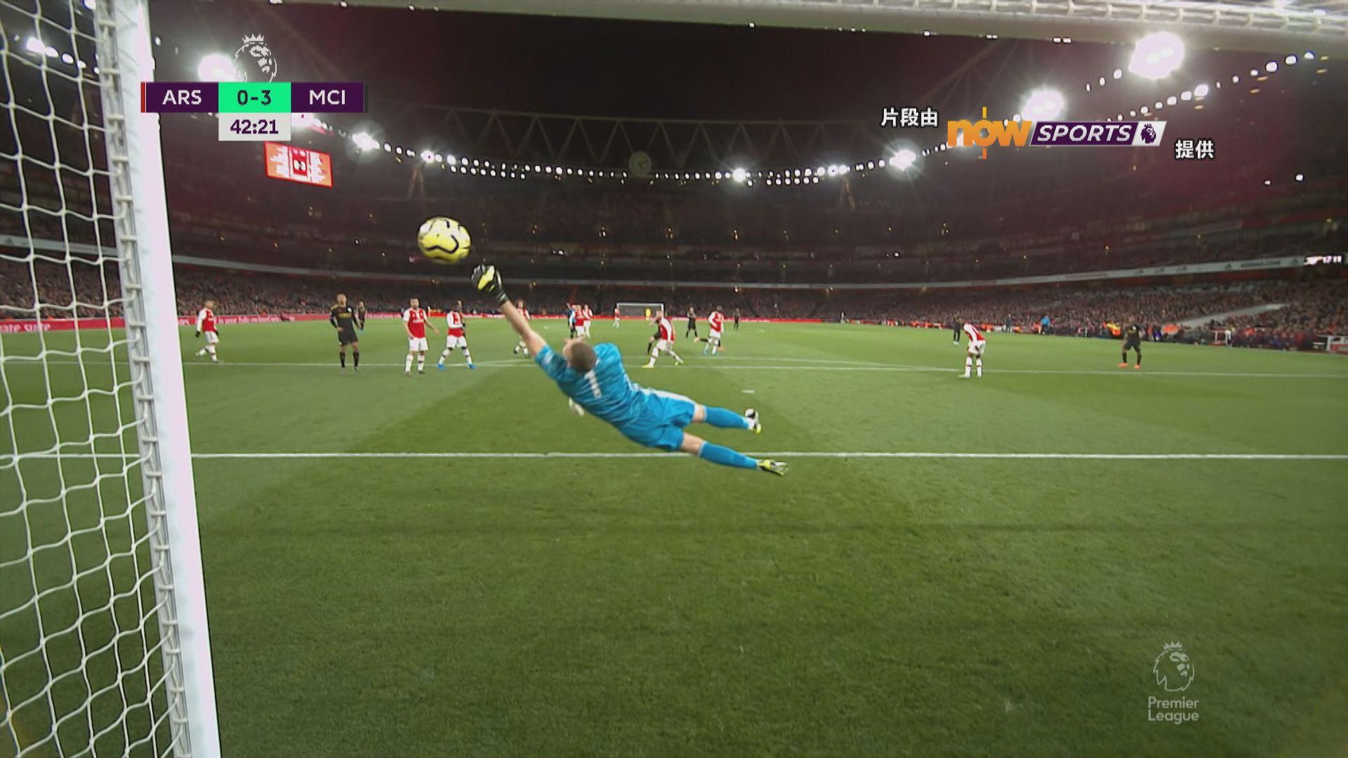 英超 阿仙奴0:3曼城