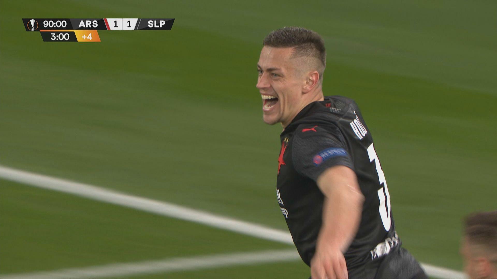 歐霸盃八強 阿仙奴1:1布拉格斯拉維亞
