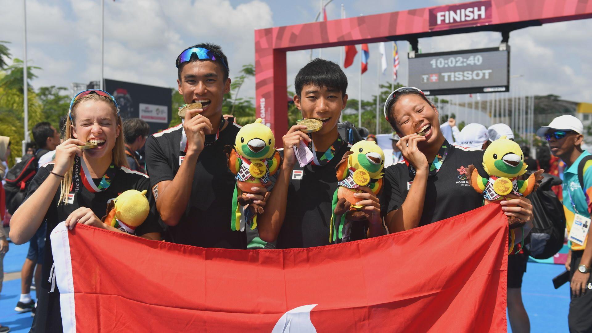 亞運:港隊於三項鐵人混合團體賽奪銅
